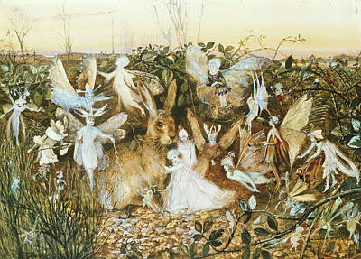 Hare Wall Art - Painting - Fairy Twilight by John Anster Fitzgerald