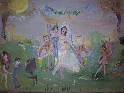 Art Print featuring the painting Fairy Wedding by Judith Desrosiers