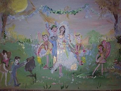 Fairy Wedding Art Print by Judith Desrosiers