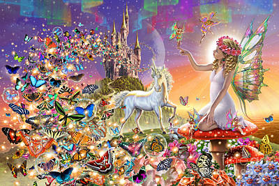 Fantasy Digital Art - Fairyland by Adrian Chesterman