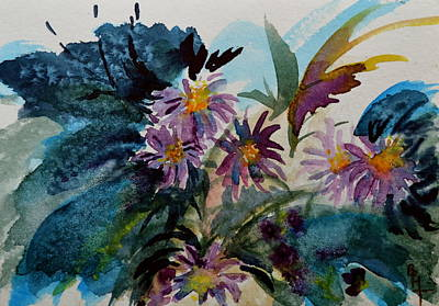Fairyland Asters Original by Beverley Harper Tinsley