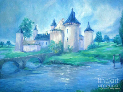 Cinderella Castle Painting - Fairytale Castle Where Dreams Come True by Glenna McRae