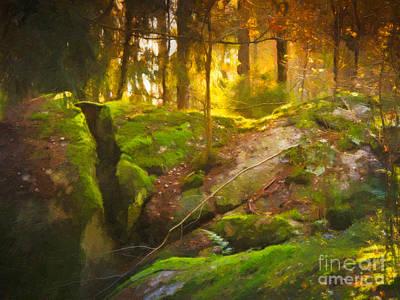 Fairytale Forest Art Print by Lutz Baar