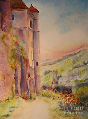 Painting - Fairytale In Perigord France by Beatrice Cloake