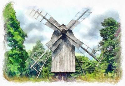 Millstone Painting - Fairytale Mill by Sergey Lukashin