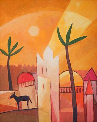 North Africa Painting - Fairytale Village by Lutz Baar