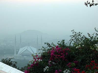 Islamabad Photograph - Faisal Masjid From Daman E Koh by Syed Ghazanfar Ali Shah Bukhari