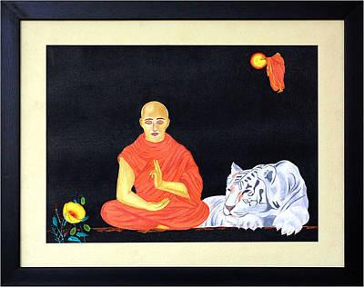 Ahimsa Painting - Faith - Why Fear by Bliss Of Art