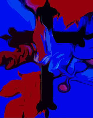 Blue Fig Digital Art - Faith Abstract Popart  by Tanya Sorth