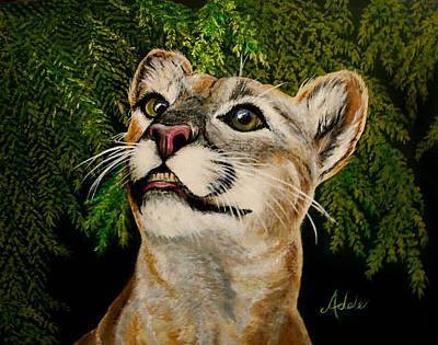 Endangered Wildlife Painting - Faith by Adele Moscaritolo