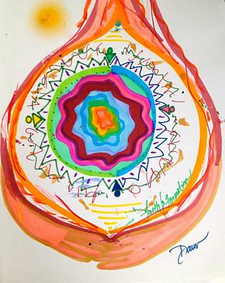 Visionary Art Drawing - Faith And Formation by Dawn Richerson