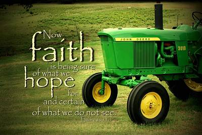 Tractor Photograph - Faith And Hope by Linda Fowler