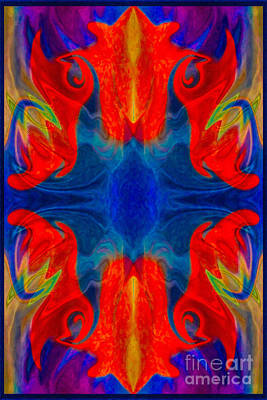 Painting - Faith And Love Abstract Pattered Artwork by Omaste Witkowski