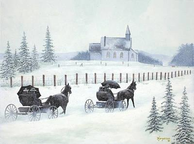 Faith And Winter Art Print