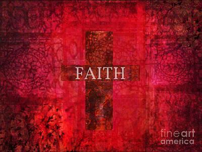 Christian Artwork Mixed Media - Faith Cross  by Creative Christian
