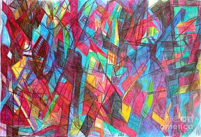 Creativity Drawing - Faith Despite Odds 1 by David Baruch Wolk