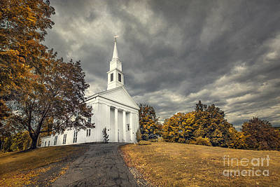 New England Village Photograph - Faith Embrace by Evelina Kremsdorf