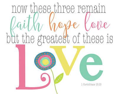 Hope Painting - Faith, Hope Love by Alli Rogosich