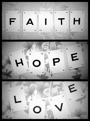 Faith Hope Love Art Print by Georgia Fowler