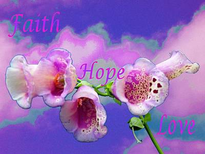 Photograph - Faith-hope-love by Mike Breau