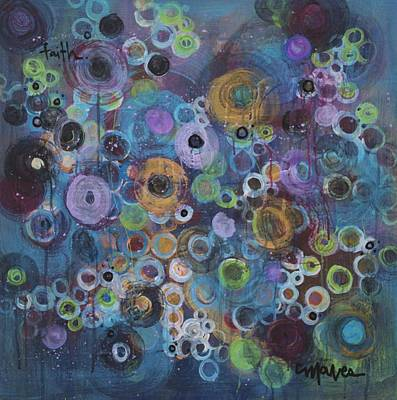 Painting - Faith In The Circles by Laurie Maves ART