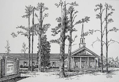 Art Print featuring the drawing Faith Presbyterian Church by Gloria Turner