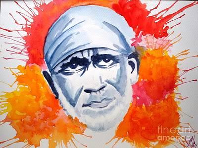 Sai Faces Painting - Faith by Sarabjit Kaur