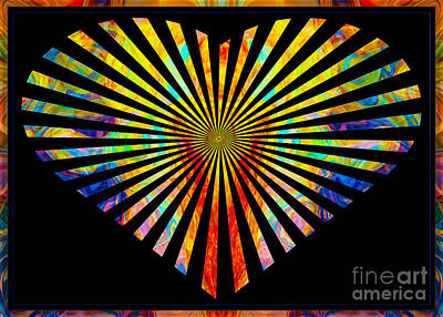 Digital Art - Faithful Love Everlasting Abstract Symbols Artwork by Omaste Witkowski
