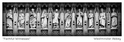 Westminster Abbey Wall Art - Photograph - Faithful Witnesses -- Poster 2 by Stephen Stookey