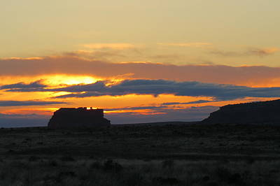 Chaco Culture Nhp Photograph - Fajada Butte At Sunrise by Feva  Fotos