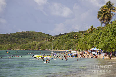 Photograph - Fajardo Beach In  Puerto Rico by Bryan Mullennix