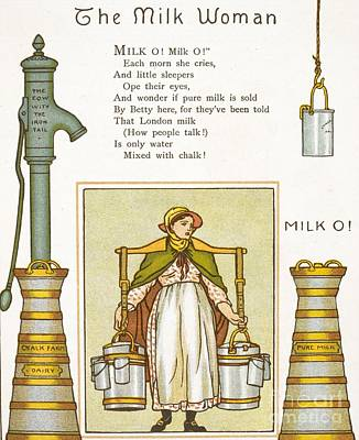Fake Milk, 1880s Poem Art Print by British Library