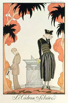 Falbalas Et Fanfreluches Almanach Des Modes Art Print by Georges Barbier