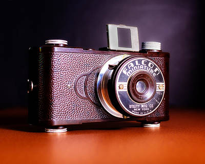 Miniatures Photograph - Falcon Miniature Camera In Tortoise-shell Bakelite by Jon Woodhams
