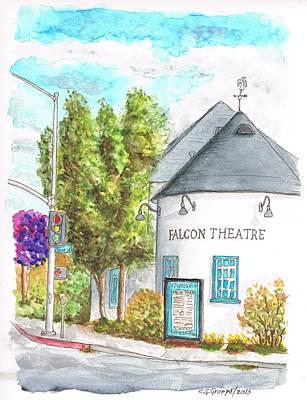 Falcon Theatre In Toluca Lake - California Original