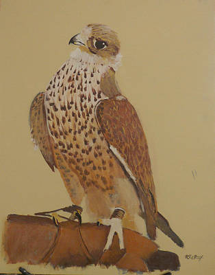 Painting - Falconry 4 by Richard Le Page