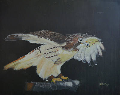 Painting - Falconry 5 by Richard Le Page