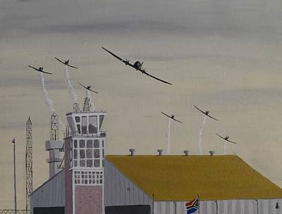 Dc-3 Painting - Falcons Farewell by Jonathan Laverick