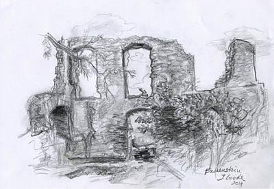 Drawing - Falkenstein Ruine by Jana Goode
