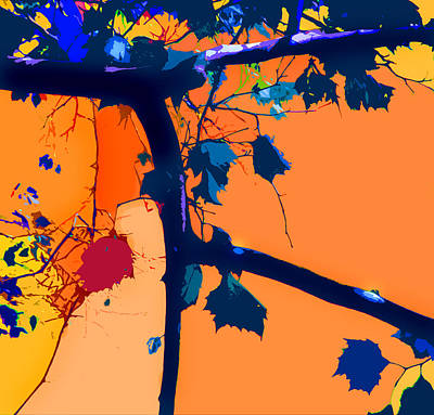 Fall Abstraction 5-2013 Art Print by John Lautermilch