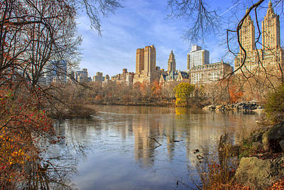 Fall Afternoon At Central Park Art Print by Tim Reaves