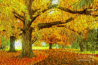 Photograph - Fall Aglow by Paul W Faust -  Impressions of Light