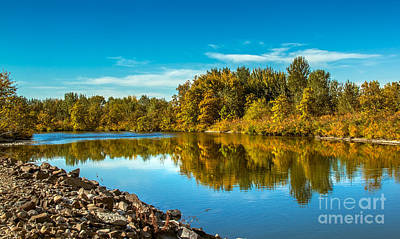 Photograph - Fall Along The Payette River by Robert Bales