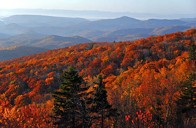 Blue Ridge Parkway Photograph - Fall Along The Ridge by Lynn Bauer