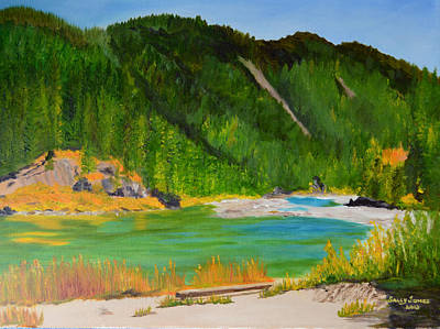 River Rafting Painting - Fall Along The Snake River Near Jackson by Sally Jones