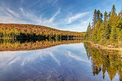 Photograph - Fall And Sky Reflection by Pierre Leclerc Photography