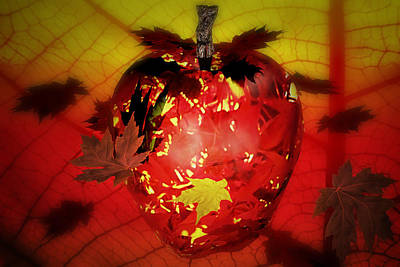 Digital Art - Fall Apple by Robert Sanders
