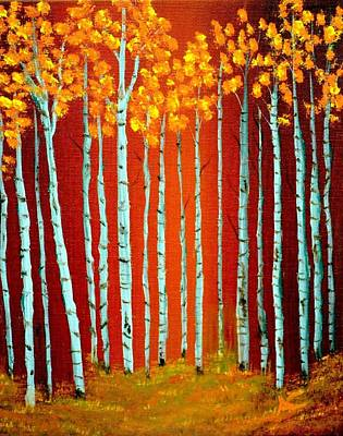 Fall Aspen Art Print by Antonia Citrino