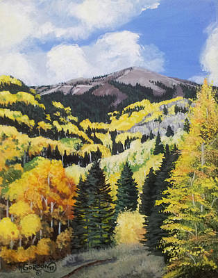 Fall At 8000 Feet Print by Timithy L Gordon