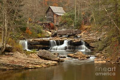 Woden Wall Art - Photograph - Fall At Babcock State Park by Adam Jewell